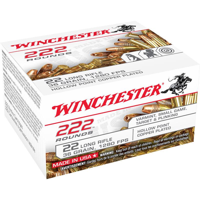 Winchester .22LR Ammunition 36 Grain Copper Plated Hollow Point 1280 fps 525 Round Brick