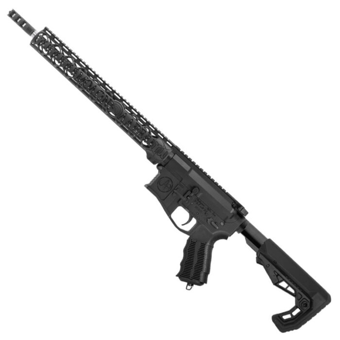 """Unique-ARs MolonLabe-15 .223 Wylde AR-15 Semi Auto Rifle 16"""" Barrel 30 Rounds Free Float Forend Carbine Stock Matte Black"""
