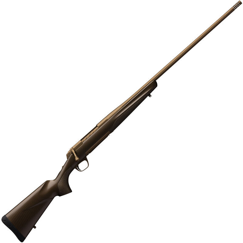 "Browning X-Bolt Pro 6.5 PRC Bolt Action Rifle 24"" Threaded Barrel 3 Rounds Composite Carbon Fiber Stock Burnt Bronze Cerakote Finish"