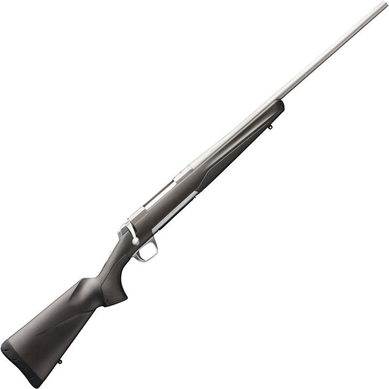 """Browning X-Bolt Stainless Stalker .243 Win Bolt Action Rifle 22"""" Barrel 4 Rounds Matte Gray/Black Composite Stock Matte Stainless Finish"""