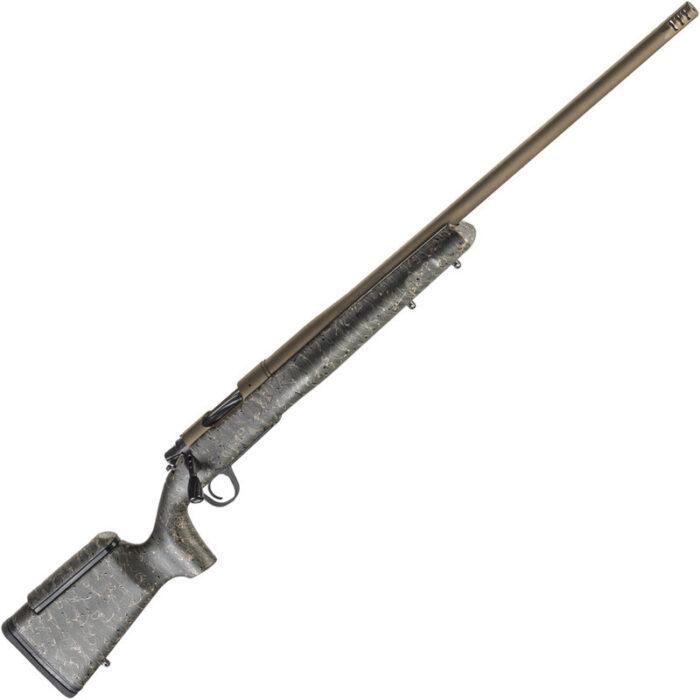 "Christensen Arms Mesa LR .28 Nosler Bolt Action Rifle 26"" Threaded Barrel 3 Rounds Carbon Fiber Composite Long Range Stock Burnt Bronze Cerakote Finish"