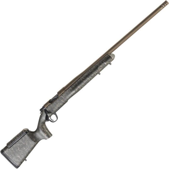 "Christensen Arms Mesa LR .338 Lapua Mag Bolt Action Rifle 27"" Threaded Barrel 3 Rounds Carbon Fiber Composite Long Range Stock Burnt Bronze Cerakote Finish"