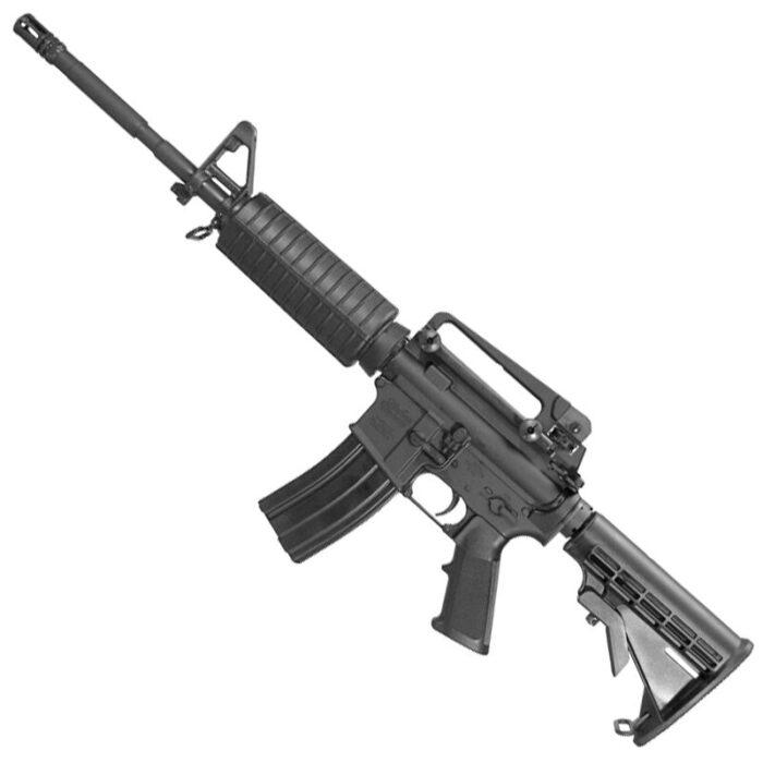 "Windham Weaponry MPC-7 AR-15 5.56 NATO Semi Auto Rifle 16"" Barrel 30 Rounds Mil-Spec Furniture Removable Carry Handle Matte Black"