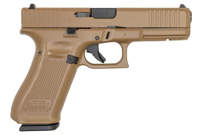 Glock 17 Gen5 9mm Pistol with FDE Cerakote Finish