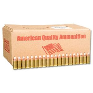 American Quality 9mm Luger Ammunition 500 Bulk Rounds FMJ 115 Grain Winchester Brass