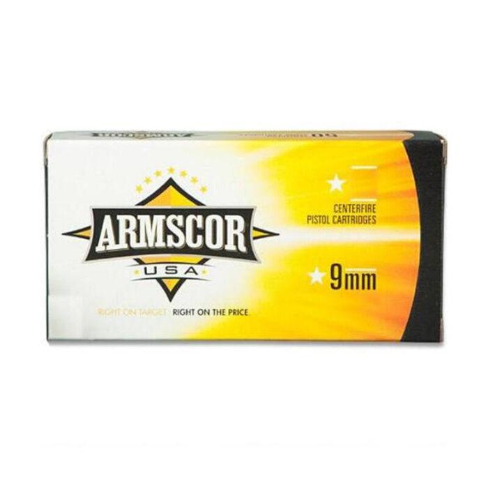 Armscor USA 9mm Luger +P Ammunition 50 Rounds JHP 115 Grain