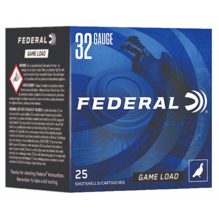 """Federal Game Load Upland 32 Gauge Ammunition 2-1/2"""" #8 Lead Shot 11/16 Ounce 1260 fps"""