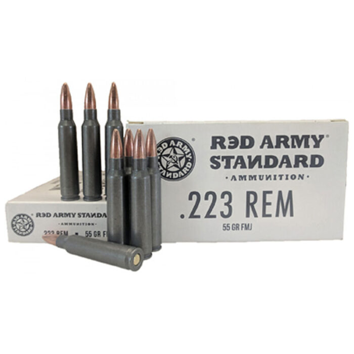 Century Arms Red Army Standard White .223 Rem Ammunition 55 Grain Full Metal Jacket Steel Cased