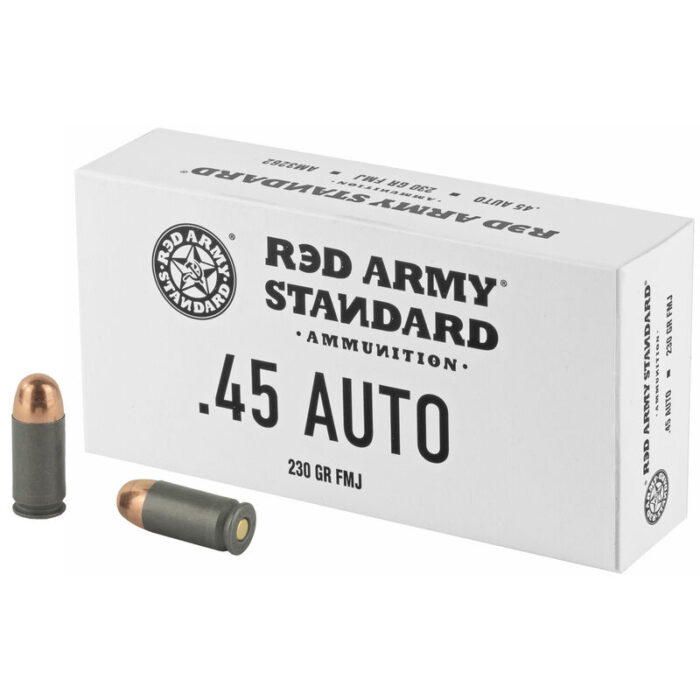Century Arms Red Army Standard White .45 ACP Ammunition 230 Grain Full Metal Jacket Steel Cased