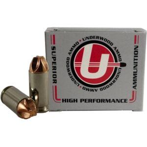 Underwood Ammo .40 S&W Ammunition 20 Round Box 100 Grain Solid Copper 1500 fps