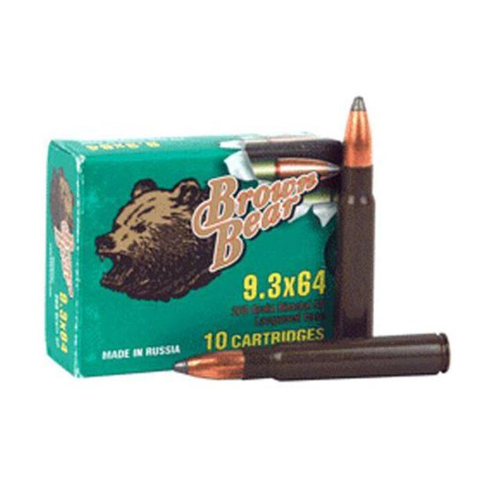 Brown Bear 9.3x64mm 268 Grain Bi-Metal SP 10 Round Box