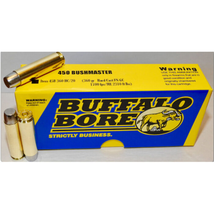 Buffalo Bore .450 Bushmaster Ammunition 20 Rounds HC 360 Grains