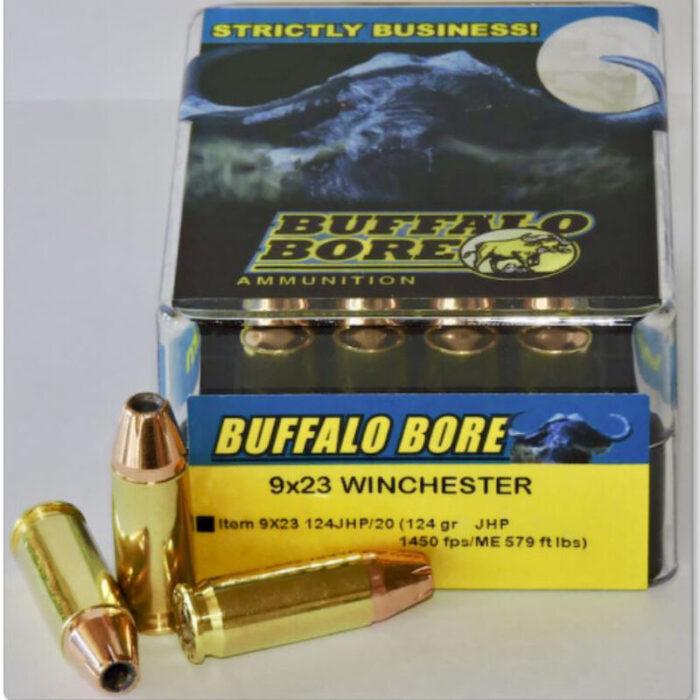 Buffalo Bore 9x23 Winchester Ammunition 20 Rounds JHP 124 Grains 9x23 124JHP/20