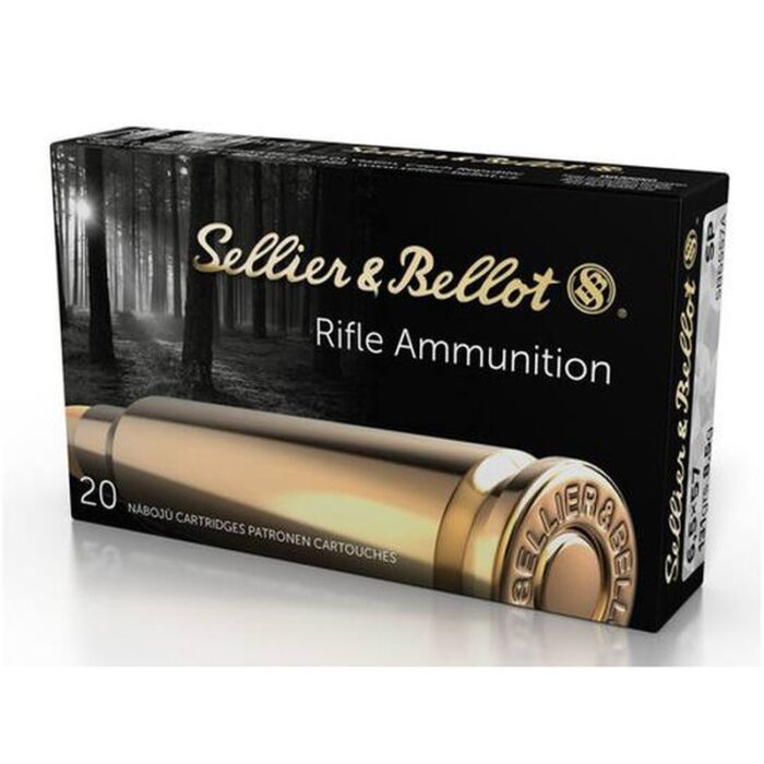 Sellier & Bellot 6.5x57mm Mauser Ammunition 400 Rounds SP 131 Grains SB6557A