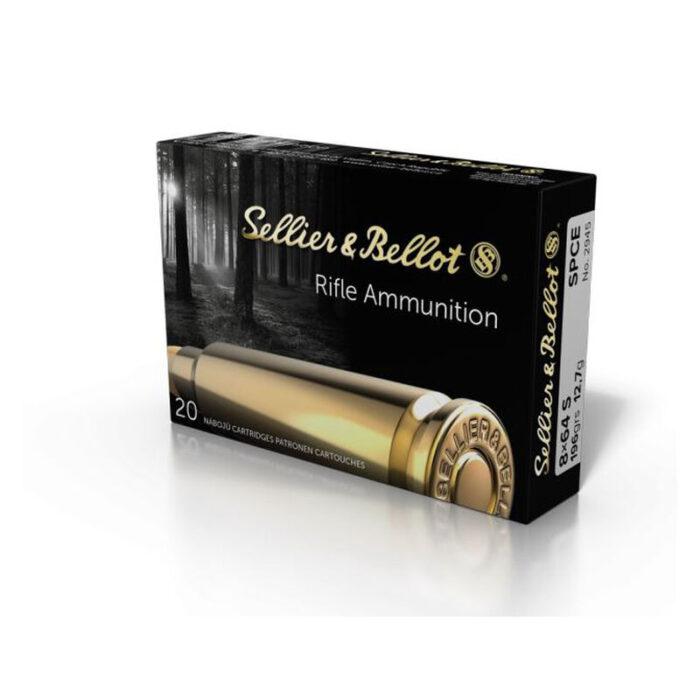 Sellier & Bellot 8x64mm S Ammunition 20 Rounds196gr SPCE SB864SA